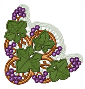 Napkin Edge 2 embroidery design