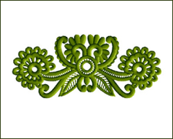 Meadow Decorations Small Pendant embroidery design