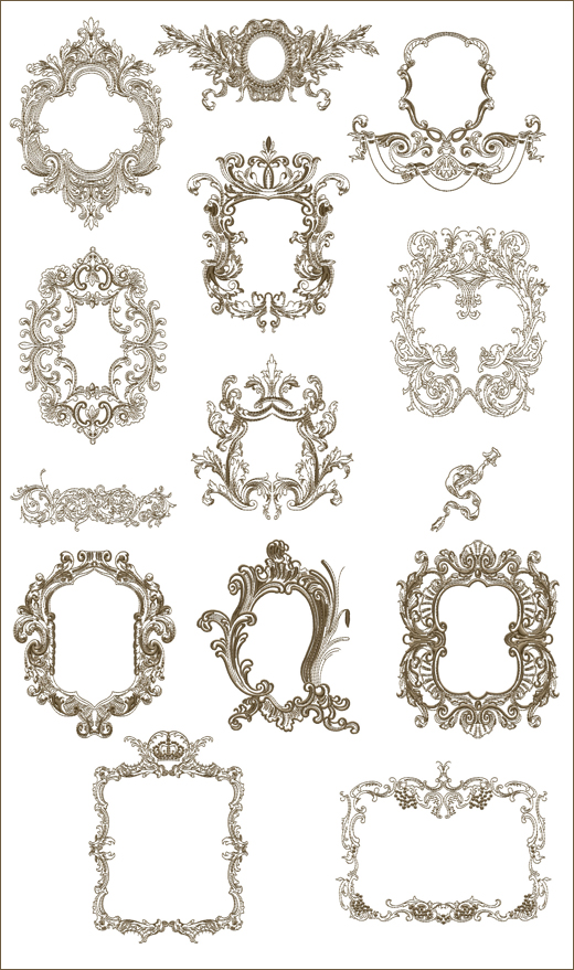 Medieval Frames 2 Machine Embroidery Designs
