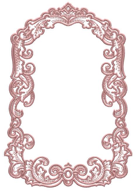 ABC Designs Medieval Frames Machine Embroidery Designs SET