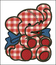 Alvin the Elephant embroidery designs