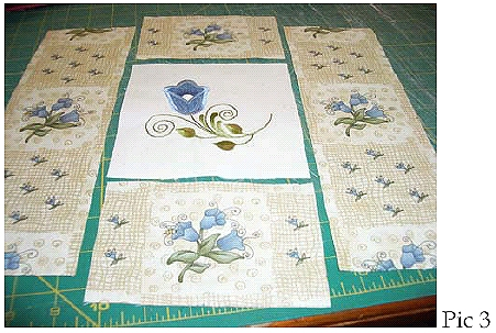 Kitchen Towel and Potholders with Pastel Tulips Embroidery