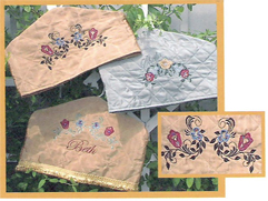 Edwardian Style Hanger Covers with APPLIQUE Pastel Tulips