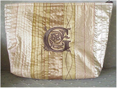 Elegant and Easy Cosmetic Bags with Victorian Monogram