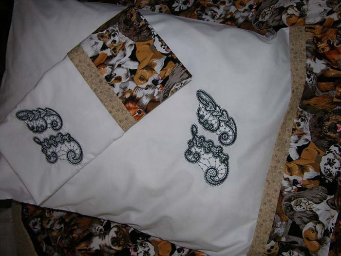 Amazing Three Seam Pillow Cases with Venice Initials - brown
