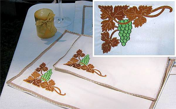 Tableware Accessories with Grape Vines