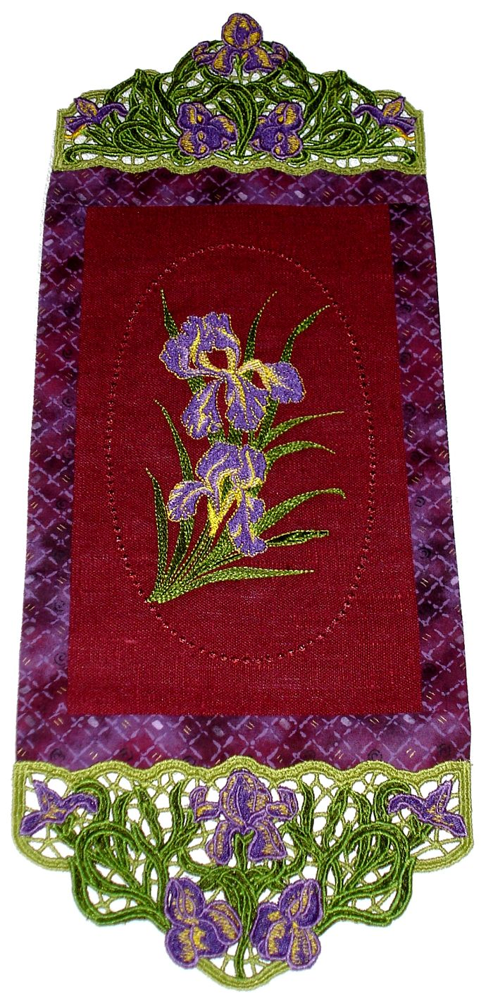 Stylish Wallhanging with Irises