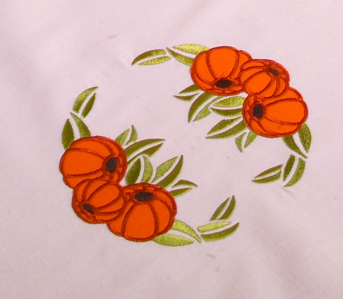 Project Idea using Pumpkin Applique embroidery designs set
