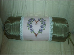 Relaxation Pillow using Violets Design Set