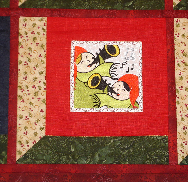 Project Idea with Twelve Days of Christmas Embroidery Designs