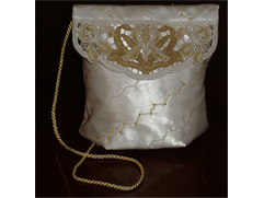 Wedding Purse with Lace Irises Top
