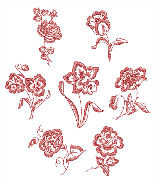 abc free machine embroidery designs