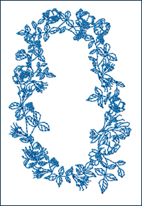 Redwork 0 embroidery design