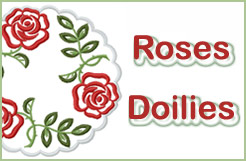Roses Doilies Machine Embroidery Designs