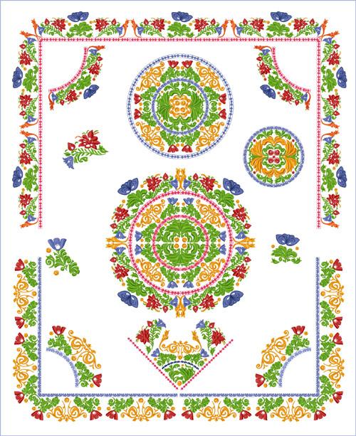 Sacred wildflower garden for Garden embroidery designs