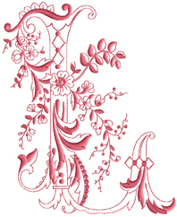 L from Enlaced Romance Initials