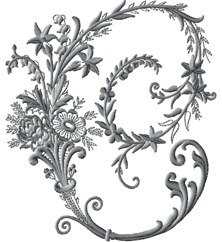 C from Victorian Whitework Font