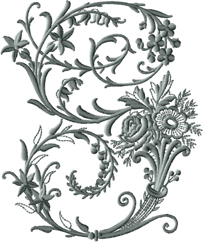 G from Victorian Whitework Font