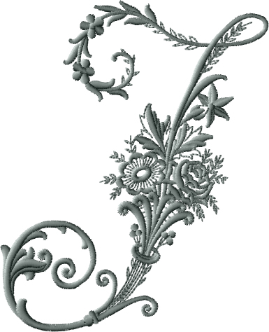 I from Victorian Whitework Font
