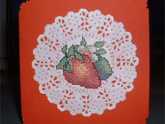 Making Embroidered Postcard using Lightweight Decorative Paper