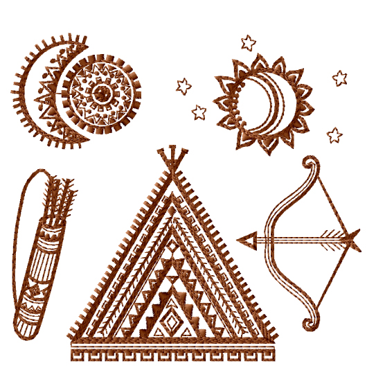 Tribal Sampler Embroidery Designs