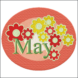 May from Twelve Month Gala Patches