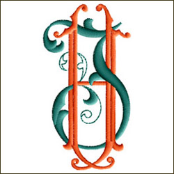 JH or HJ Two Letter Monogram