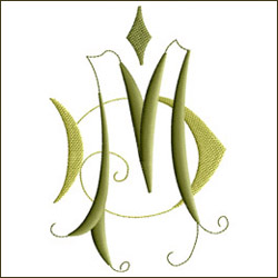 MD Two-Letter Monogram