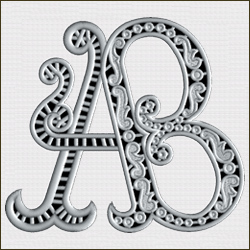 AB Cutwork Monogram 5