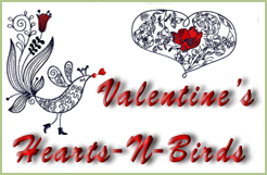 Valentines Hearts-N-Birds Embroidery Designs