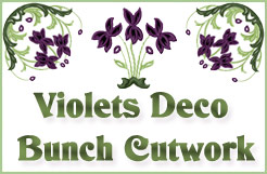 Violets Deco Bunch Cutwork