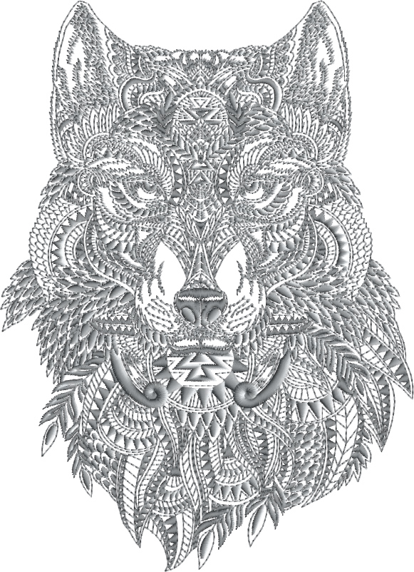 Wolf Face Designs