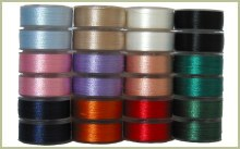 24 L Pre-Wound Plastic Sided Bobbins - 12 Colors