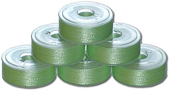 144 L Pre-Wound Plastic Sided Bobbins - Yellow Green LT (P719)