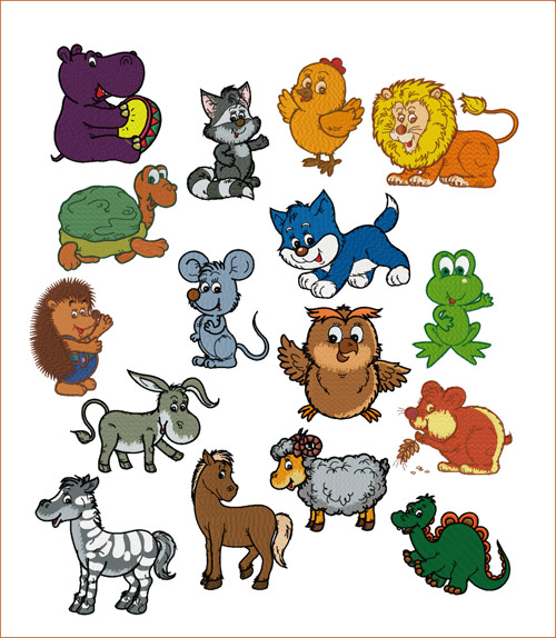 Little Chummy Critters  machine embroidery designs