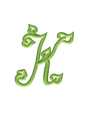 K from Spring Font