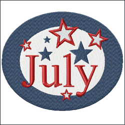 July from Twelve Month Gala Patches