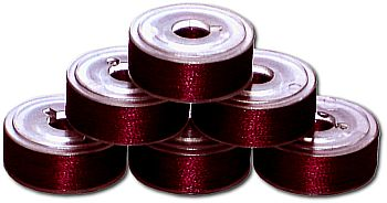 72 L Pre-Wound Bobbins - Deep Wine Red (P538)
