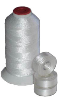 Matching L Bobbins & Thread - White