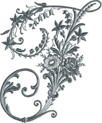 J from Victorian Whitework Font