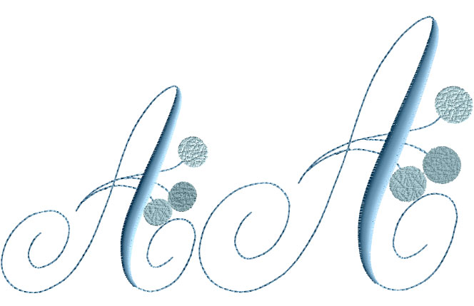 Charlotte Snow Blue Alphabet machine embroidery designs