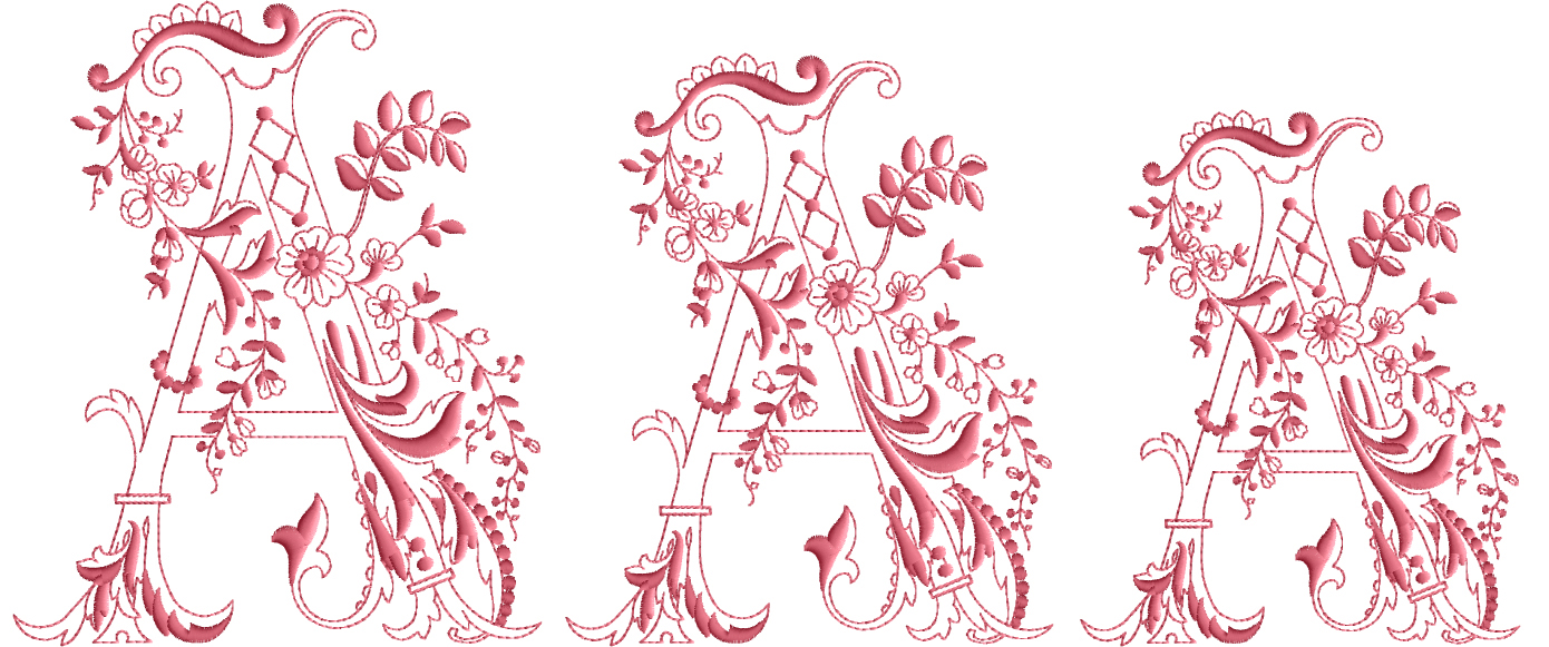 Enlaced Romance Initials machine embroidery designs
