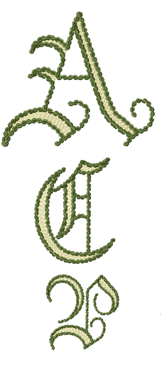 Fairy Woodland Alphabet machine embroidery designs