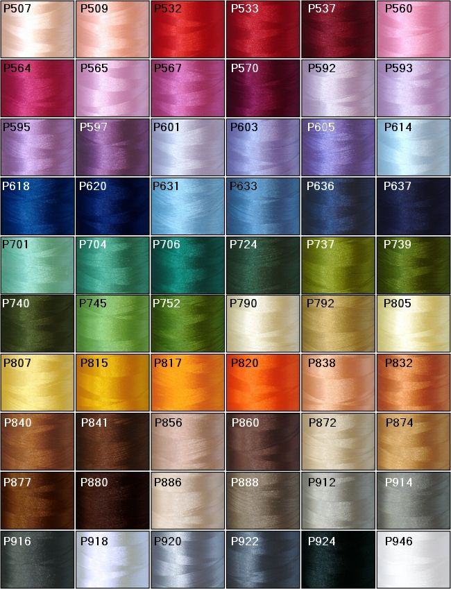 EMBROIDERY THREAD COLOUR CHART  Embroidery Designs