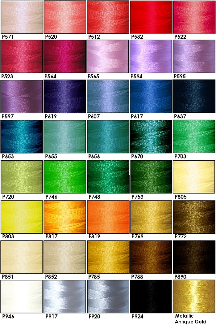 Polyester Embroidery Thread Kit - 40 Cartoon Colors