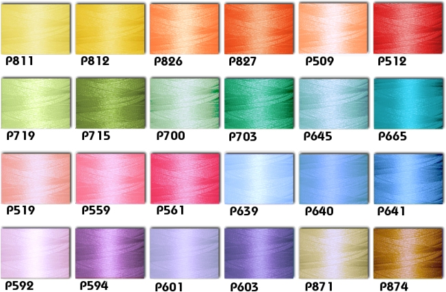 Polyester Embroidery Threads Kit 24 Pastel Colors