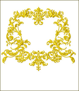Frame 6  embroidery design