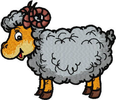 Curly-horn Ram Sheep