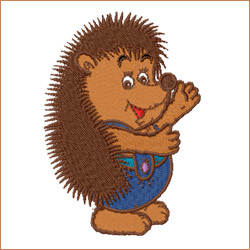 Eric the Hedgehog embroidery designs