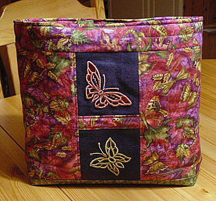 Summer Tote Bag with Cutwork Butterflies